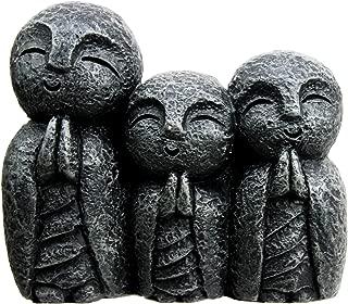 Atlantic Collectibles Japanese Buddha Trio Jizo Monks of Harmony Decorative Figurine Charm
