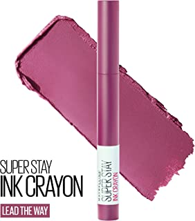 Maybelline SuperStay Ink Crayon Lipstick, Matte Longwear Lipstick Makeup, Lead The Way