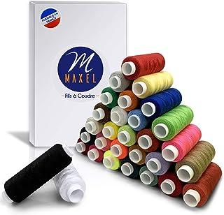 Bleu QQWA Ensemble De Fil /À Coudre 10 Pcs Polyester Tout Usage Pour La Couture /À La Main Ou /À La Machine
