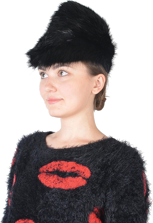 Gianfranco Ferre 100% Biber Black Women's Cossac Hat Size S