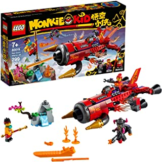 LEGO Monkie Kid Red Son's Inferno Jet 80019 Building Kit...