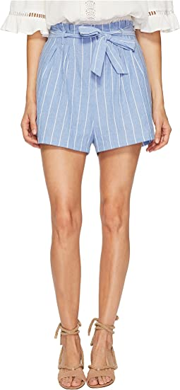 Stripe Paperbag Shorts