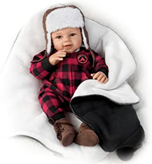 The Ashton-Drake Galleries So Truly Real Happy Camper RealTouch Vinyl Baby Doll with Fleece Sleeping Bag