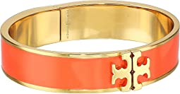 Tory Burch Raised Logo Thin Enamel Hinged Bracelet