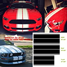 Universal fit for all cars 1Set/3Pairs Vinyl Racing Stripe Decal Sticker for Car Decoration Fender, Hood, Roof, Side, Trunk, Skirt, Bumper of Racing Rally Stripes Stripe Graphics Decal