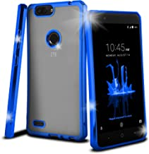 Celljoy Case compatible with ZTE Blade Z Max, ZTE Sequoia [[Chrome Bling TPU]] - High Impact Bumper - Transparent - High Shine - Flexible - Extreme Drop Protection and Grip (Chrome Blue)