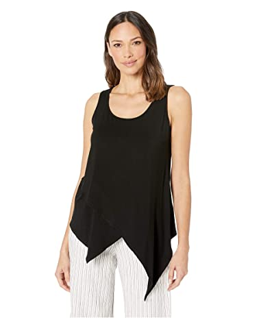 Karen Kane Asymmetric Knit Top (Black) Women