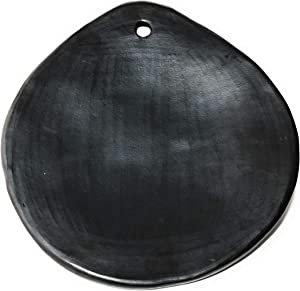 "Comal for tortillas 9"" / Cayana, Black Clay, Original handicraft Made in Tolima Colombia, protect your health and take care the planet, vegan, organic, sustainable and no contaminant."