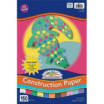 Pacon 6523 SunWorks Construction Paper Heavy 24 x 36 10 Colors 50 Sheets
