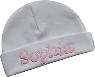Embroidered Baby Hat with Custom Personalization for Baby Girls - Your Custom Embroidered Text!