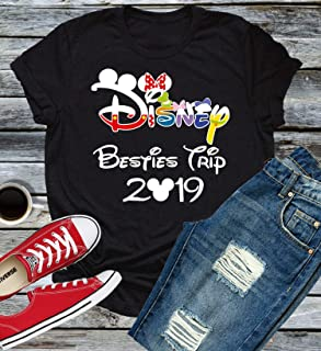 Family Vacation Mickey Mouse Personalized Tee Shirt with Name Year Party Disney World Trip Cruise Reunion T-shirt Boy Girl Baby Epcot Minnie