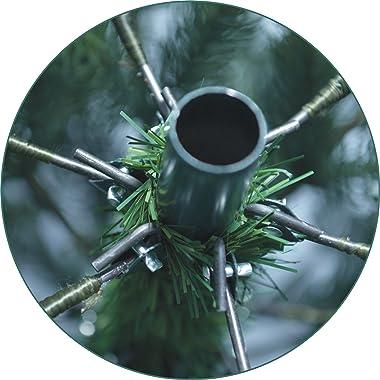 Xenotec El árbol de Navidad PE artificialmente Mide Aproximadamente 210 cm de Alto con 312 LED de luz Blanca cálida: el Origi