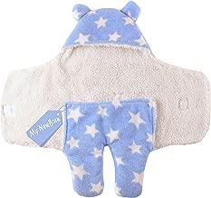 My NewBorn Baby Ultra Soft Fleece Wrapper Blanket (Blue)