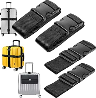 1f1b45d3d DIY Crafts 3 Pack of Add A Bag Luggage Straps, Adjustble Suitcase  Attachment Belt,