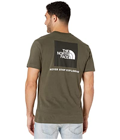 The North Face Short Sleeve Red Box T-Shirt (New Taupe Green) Men