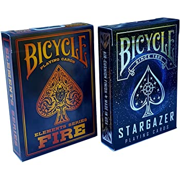 Bicycle Playing Cards Elements Series Fire Smoke Deck