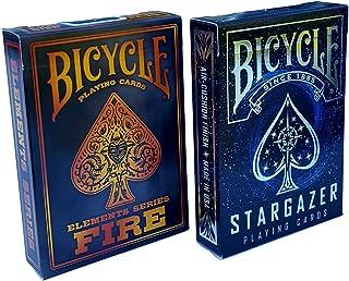 Bicycle Stargazer & Fire Elements Series Playing Cards Bundle, 2 Decks (Basic pack)