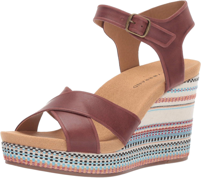 Boston Mall price Lucky Brand Women's Wedge Sandal Yarosan