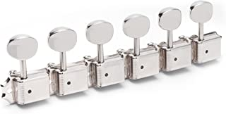 Gotoh Locking Vintage Oval Knob 6-In-Line Tuners, Nickel