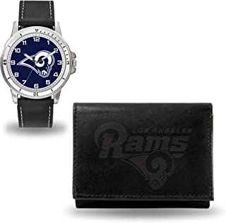 Rico Industries NFL Mens NFL Watch and Black Wallet Set