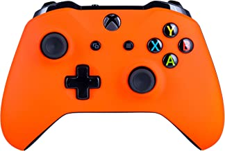Xbox One S Wireless Controller for Microsoft Xbox One - Soft Touch Orange X1 - Added Grip for Long Gaming Sessions - Multiple Colors Available