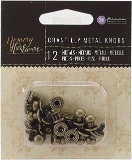 Prima Marketing 990350 Memory Hardware Embellishments-Metal Knobs, 12/Pkg