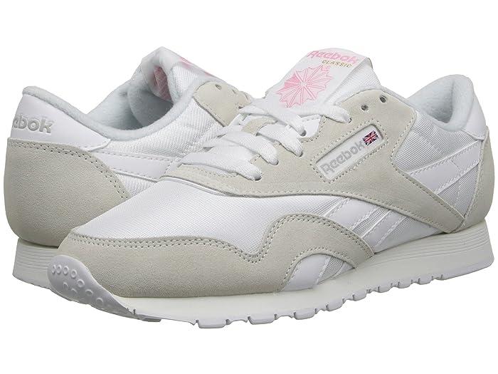 Reebok Lifestyle  Classic Nylon W (White/Light Grey) Womens Classic Shoes