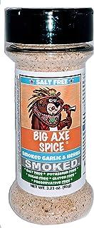 Big Axe Spice Smoked Garlic & Herbs - Salt Free Seasoning, Potassium Free, Gluten Free, Sugar Free, Preservative Free - Ve...