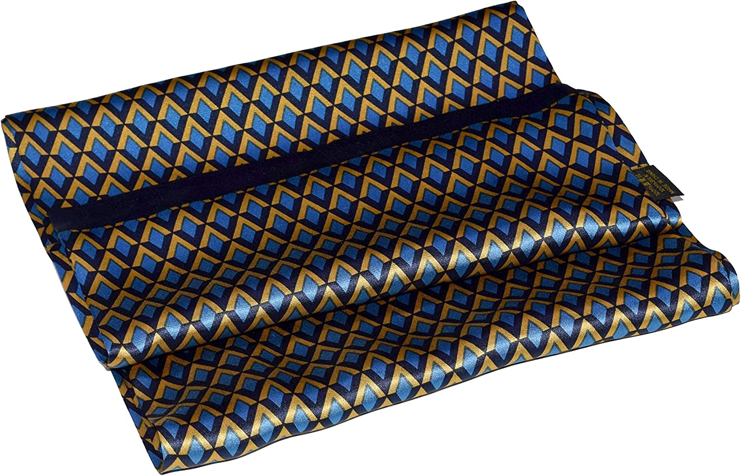 Blue Old Yellow Chevron Double Long Same day shipping Scarf Layer service Silk