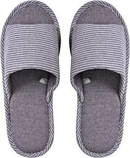 Memorygou Womens/Mens Home Slippers, Cotton and Linen Casual Indoor Outdoor Open-Toe Shoes