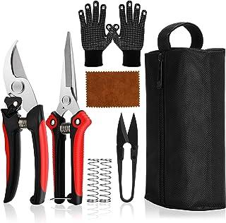 Bypass Pruning Shears Heavy Duty, Gardening Pruning Shears Set, Scissors Kit, Bonsai Pruning, Branch Hand Pruner Secateur...