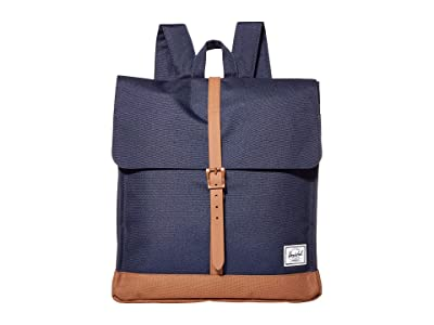 Herschel Supply Co. City Mid-Volume (Peacoat/Saddle Brown) Backpack Bags
