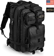 mPac Tactical Backpack Heavy Duty Rucksack for Hiking Camping Travel Hunting Survival Army, Waterproof Bugout Outdoor Day Pack, 2 Flag Patches