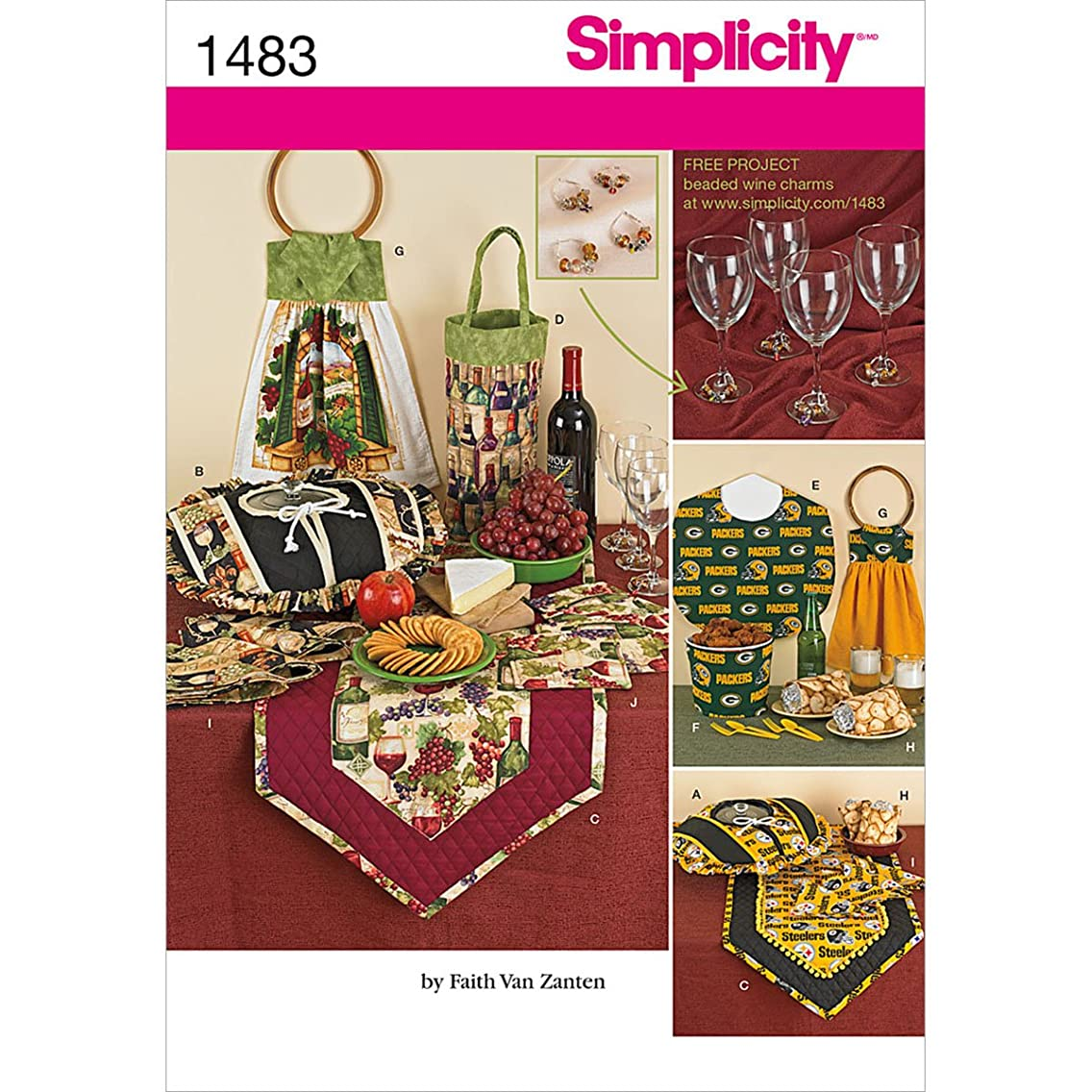 Simplicity 1483 Kitchen Accessories Sewing Patterns, One Size Only