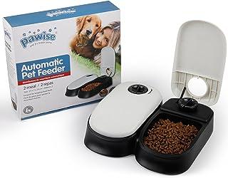 Pawise Automatic Pet feeder per cani, gatti e piccoli animali, borsa Pet food dispenser, 2 Meal-300ml*2, Infradito colorati estivi, con finte perline