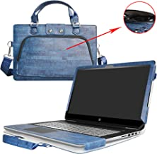 Pavilion 15 Case,2 in 1 Accurately Designed Protective PU Leather Cover +Portable Carrying Bag for 15.6