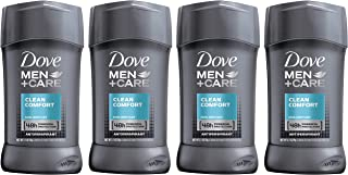 Dove Men+Care Antiperspirant Deodorant Stick, Clean Comfort 48 Hour Protection, 2.7 oz 4 ct (Packaging may vary)
