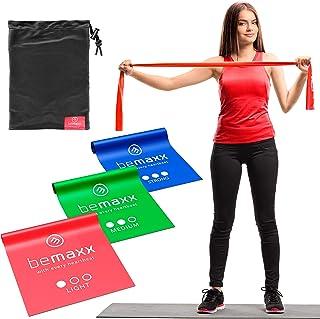 comprar comparacion Bandas Elásticas Set de 3 Resistencias / Cintas Extra Largas 2m + eBook Guía de Ejercicios | Mini Fitness Bands Kit | Láte...