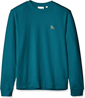 Lacoste Men's Long Sleeve French Terry Embroidered Graphic Sweatshirt