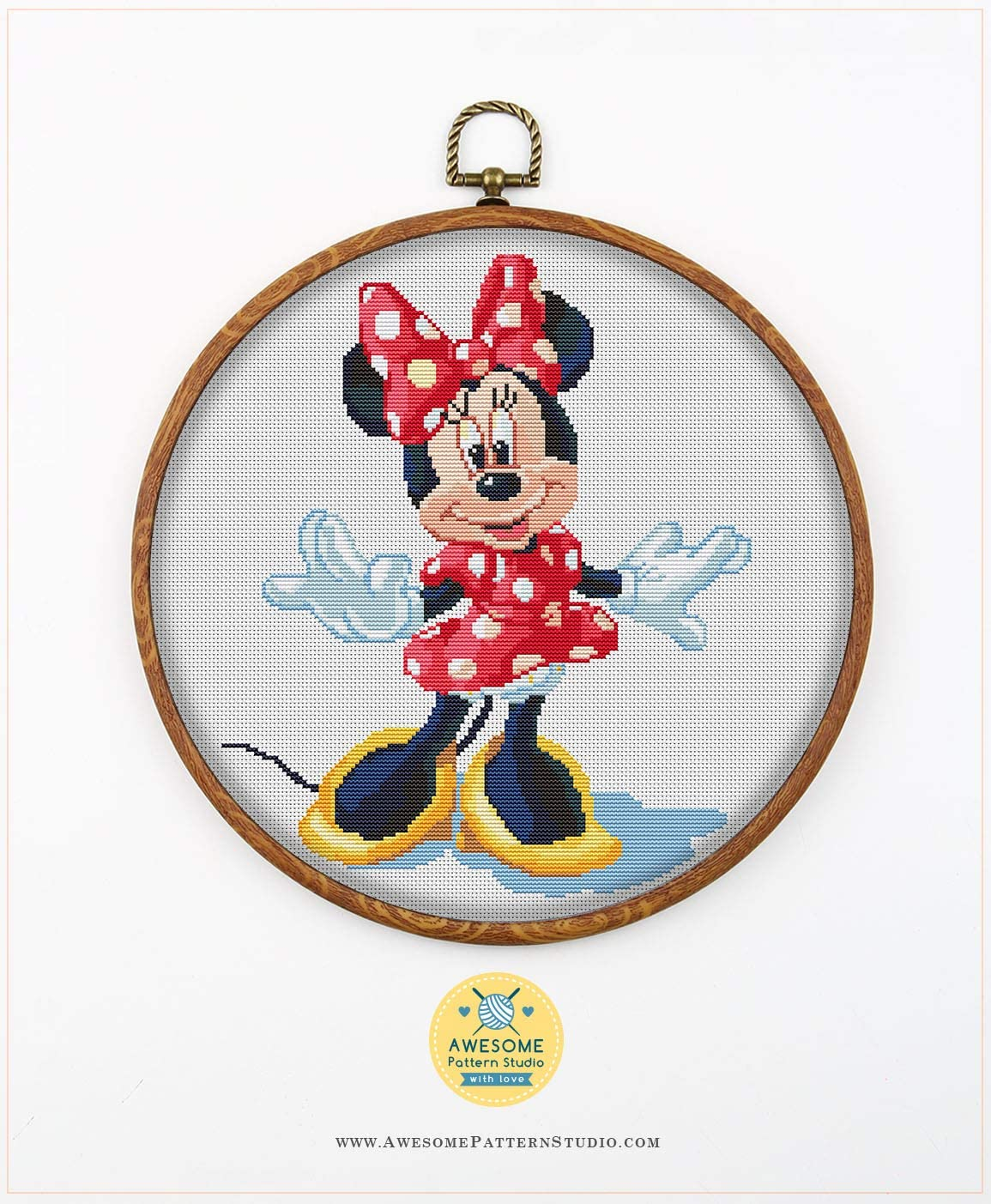 Embroidery Pattern Kit Fabrick and 4 Printed Color Schemes Inside Mulan K194 Counted Cross Stitch KIT#2 Needles Threads