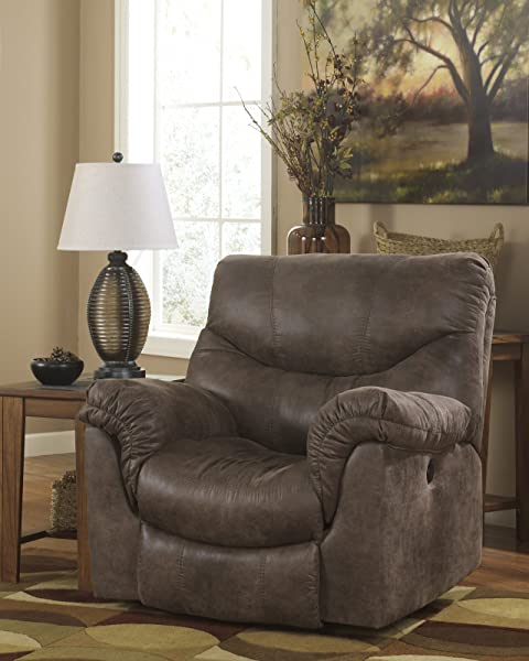 Ashley Furniture Signature Design Alzena Recliner Rocker Gunsmoke