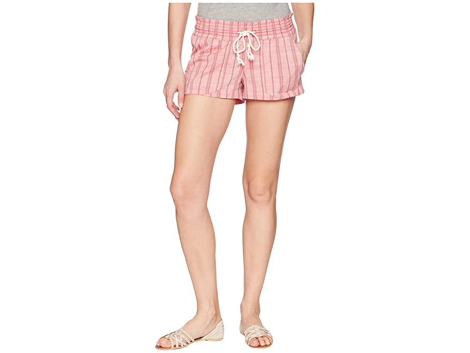 Roxy Oceanside Shorts Yarn-Dye (Holly Berry South Border) Women