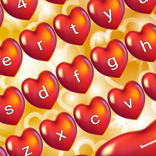 Glitzer-Herz-Tastaturen