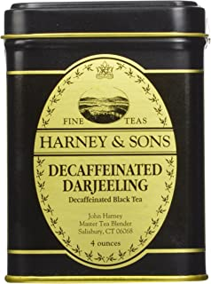 Decaffeinated Darjeeling, Loose tea 4 ounces in a tin by Harney & Sons