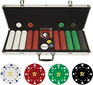 Trademark Poker Personalized Monogrammed 500 11.5 Gram Suited Chips in Case
