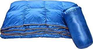 SLEEPHIX Down Camping Outdoor Blanket | Water Repellent | Nylon Shell with Down Filling | Ideal for Camping, Airplane Travel, Sailing, Terrace, Festivals, Backpacking & Home Use | Fill Power: 650