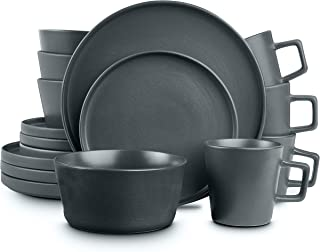 Sponsored Ad - Stone Lain Coupe Dinnerware Set, Service For 4, Gray Matte