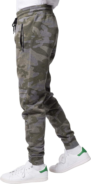 BROOKLYN ATHLETICS Mens Fleece Jogger Pants Active Zipper Pocket Sweatpants