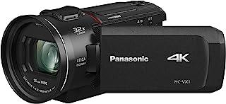 "Panasonic PANASONIC HC-VX1 4K Camcorder, 24X LEICA DICOMAR Lens, 1/2.5"" BSI Sensor, Three O.I.S. Stabilizer Systems, HDR M..."