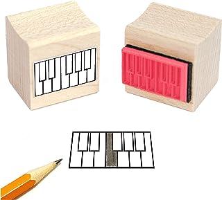 Mini Piano Diagam Rubber Stamp